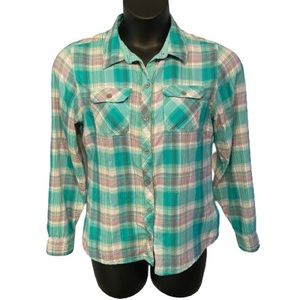 Marmot button up plaid top